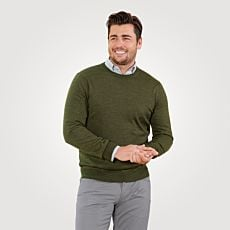 Pull-over en tricot fin avec laine mérinos