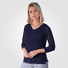 3/4 Arm Pullover V-Neck