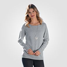 Pull-over en tricot chiné structuré
