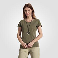 T-shirt basique, aspect fil flammé