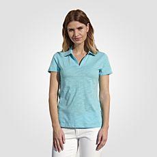 Basic Poloshirt Flammgarn-Optik