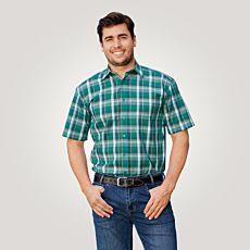 Chemise à manches courtes, vert-orange