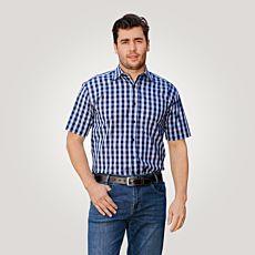 Chemise à manches courtes, bleu à carreaux