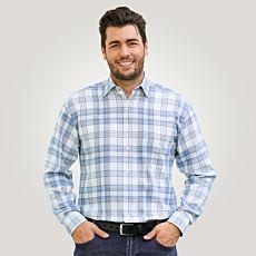 Chemise à manches longues en flanelle, bleu clair