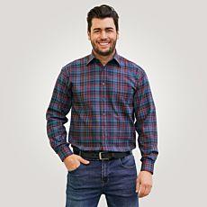 Chemise à longues manches, bleu à carreaux