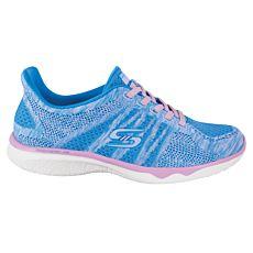 Chaussure à lacer Skechers bleu clair et socks