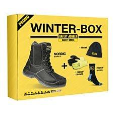 Sicherheitsschuh Box mit Mütze, Handschuhen, Socken
