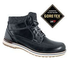 Bottine à lacer Fretz Men Cooper en cuir noir