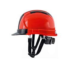 Casque de chantier Delux orange-rouge