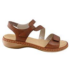 Rieker Sandalette aus Nappaleder braun Damen