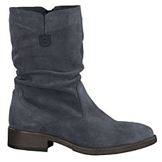 Botte Tamaris en cuir velours pour dames anthracite