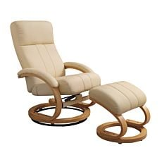 Relax Chair Patras mit Hocker creme