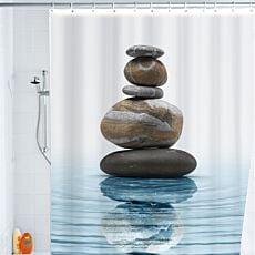 Rideau de douche design Zen méditation