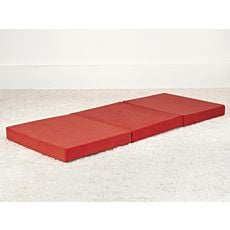 Matelas pliable en mousse orange-rouge