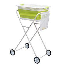 Wäschekorb-Trolley mit Beinen auf Rollen