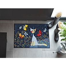 Paillasson Rosina Wachtmeister chat et papillons