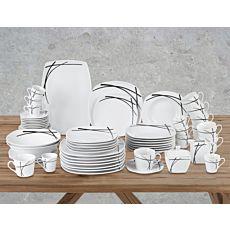 Geschirrset Porzellan für 8 Personen 62-teilig