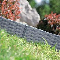 Bordure de pelouse, allure rotin, 5 éléments