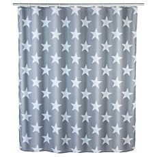Duschvorhang Stella grau-weiss