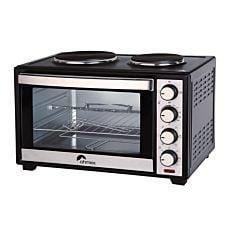 Ohmex Luft-Elektro Ofen 48 Liter mit 2 Kochplatten