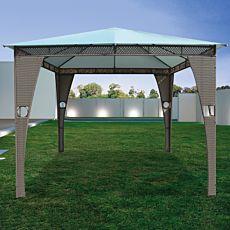 Pavillon grau-hellgrau 3x3m