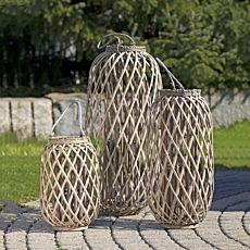 Laterne aus Bambus braun