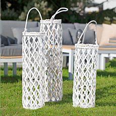 Lanterne en bambou blanche longue