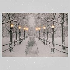 LED-Winterbild Allee mit 8 LED