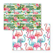 Papiertischset Flamingo-Motive