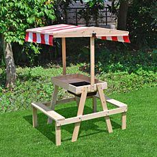 Table et bancs Elia avec bac à eau et toit