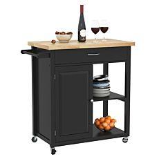 Küchenwagen Aria 89x80x47cm, schwarz