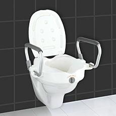 WC-Sitz Erhöhung mit Stützgriffen Secura