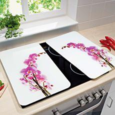 Plaques de recouvrement en verre l'orchidée