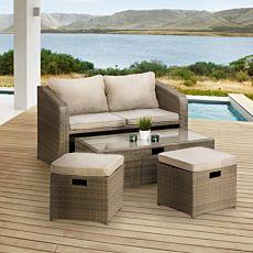 Kompakt-Lounge 4-teilig