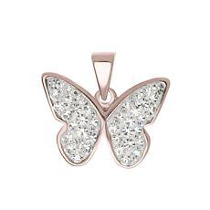 Pendentif en argent 925 Papillon, couleur or rose