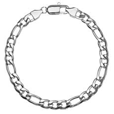 Bracelet en acier inox, larg. 6 mm