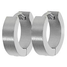Edelstahl-Ohrringe, matt geschliffen, Breite 4,0 mm
