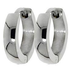 Boucles d'oreilles en acier inox brillant, larg. 3,5 mm