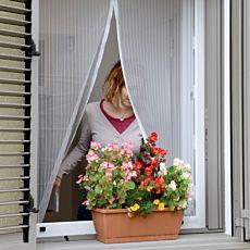Moustiquaire pour fenêtre, 130x150 cm, blanche