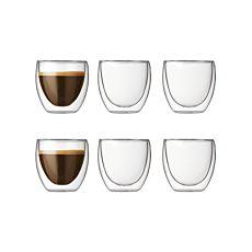Série de 6 verres transparents à double paroi Bodum Pavina, 0,08 l