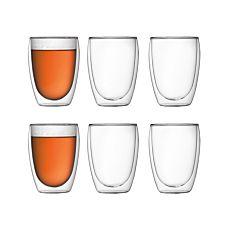 Bodum Transparente Doppelwandige Trinkgläser im 6er Set, 0.35 l
