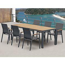 Gartentisch mit 6 Armlehnstühlen
