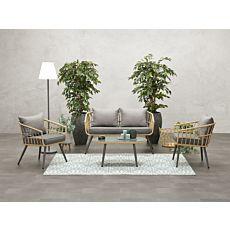Lounge-Set Franklin 4-teilig, inkl. 7 Kissen