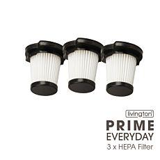 3er Set Hepa Filter zu Livington Prime Everyday