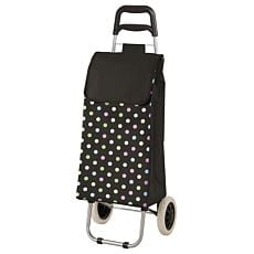 Einkaufstrolley schwarz mit Farbpunkten