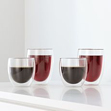 Bodum Transparente Doppelwandige Trinkgläser im 8er Set, 4x0.25 l / 4x0.35 l