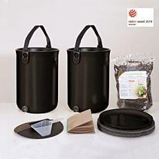 Küchenkomposter Bokashi Ocean II im 2er Set, je 9,6 Liter