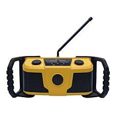 Outdoor DAB + Baustellen-Radio, 2x2.5W, IPX4 mit Bluetooth