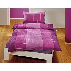 Linge de lit avec rayures mélangées