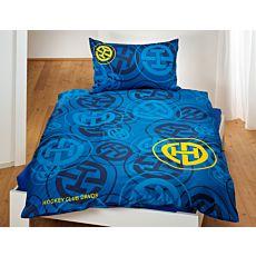 HC DAVOS Bettwäsche blau mit Logo